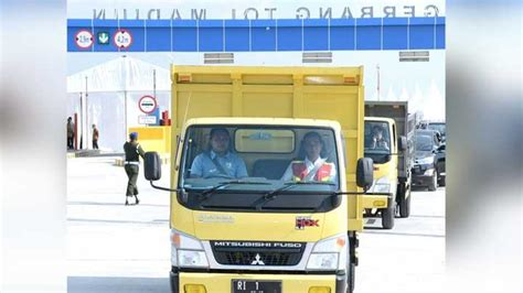 Saya Soerjadi Tanah Air jokowi pilih naik truk saat jajal tol ruas ngawi kertosono