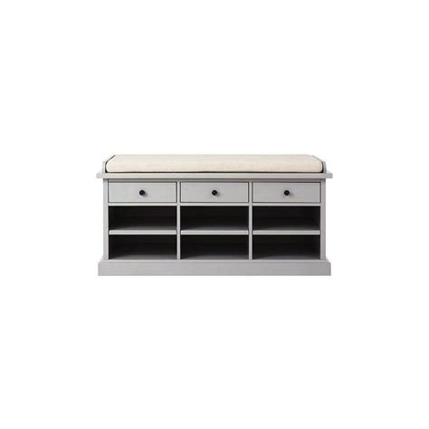 home decorators storage bench home decorators collection hton storage grey bench 9249700270 the home depot