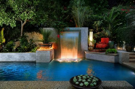 Modern Garden Waterfall by The Poolside Landscape Trends To Shape Your