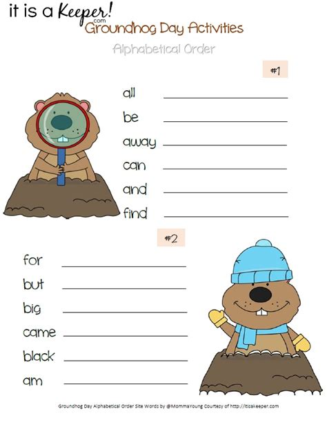 groundhog day worksheets groundhog day printable activities it is a keeper