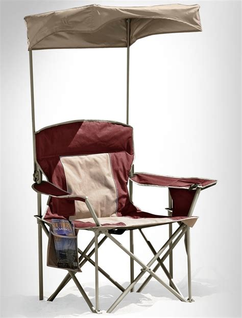 Big Folding Chair - adjustable canopy for heavy duty portable chairs great