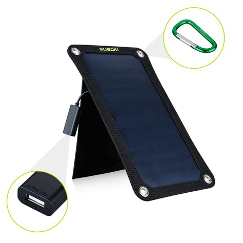 iphone 5v charger suaoki portable 7w 5v 1a solar panel usb battery charger
