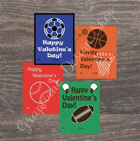 sports valentines cards sports cards instant printable