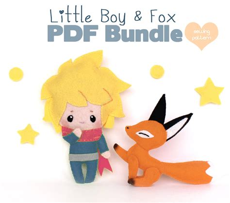 the beginner chibis pdf pdf sewing pattern bundle poseable chibi felt boy and