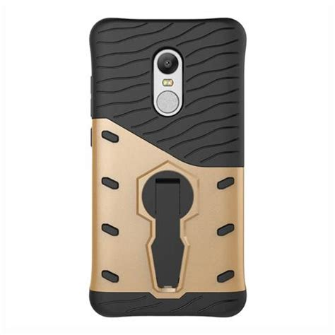 Robot Rugged Armor Xiaomi Redmi 4 Pro Cover Kick Stand armour series screen protector for redmi note4x gold