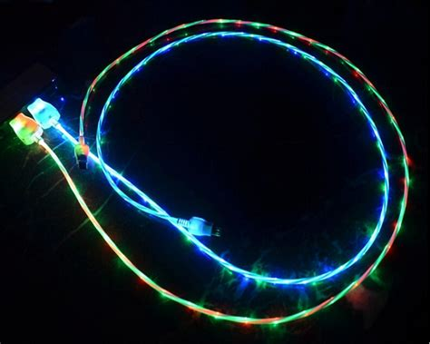 Lighted Lightning Cable by Led Lighted Lightning Micro Usb Charger Cord Cable For