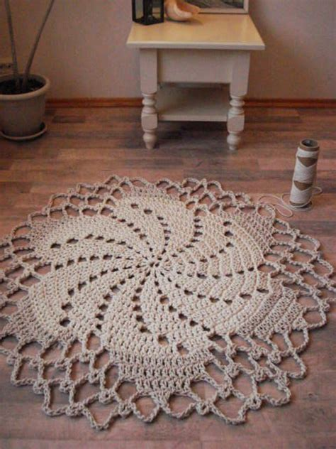 rope crochet rug crochet rope doily rug and rugs on