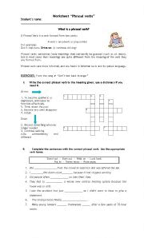 quot english grammar phrasal verbs quot break quot verb diagram worksheet for phrasal verb look phrasal verbs exercises