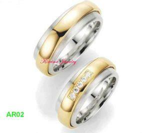 Cincin Kawin Pernikahan Emas Elegan Mewah cincin kawin elegan ar02 cincin kawin dan tunangan