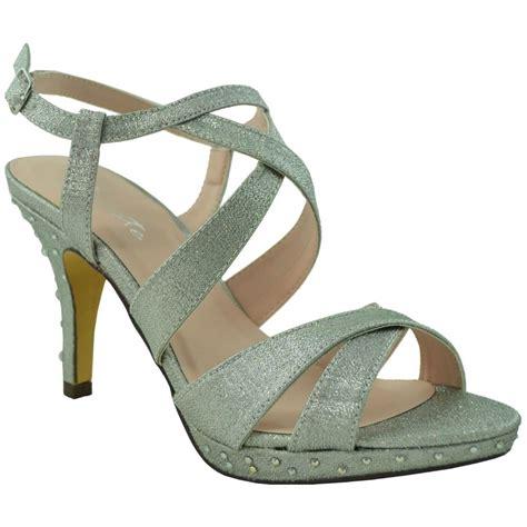sparkly heeled sandals sparkly dress sandals crisscrossed low heel