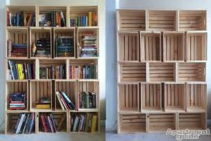 Bookshelve Ideas Storage Made Simple Diy Wooden Crate Bookshelf