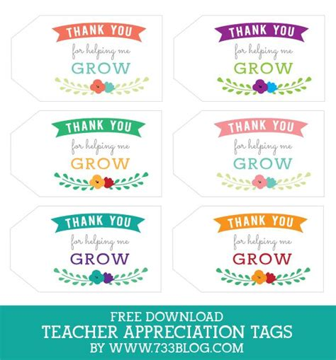 printable teacher appreciation tags flower decorated box teacher gift appreciation teacher