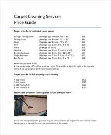 cleaning price list template sle price list 7 documents in pdf word