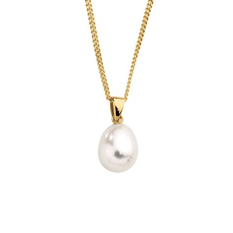 pearl pendants for jewelry pendant with a cultured freshwater pearl in 10ct yellow gold