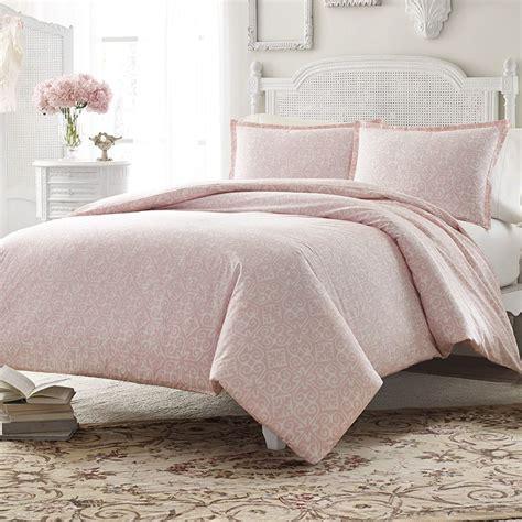 Set Meggy Dustypink cottage soft dusty pink comforter duvet set bedding more pink