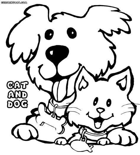 coloring page of a dog and cat cat and dog coloring pages coloring pages to download