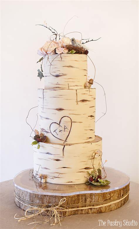 wedding cakes daytona birch wood wedding cake custom designed by the pastry