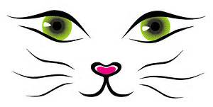 cat eye template vector line drawing cat vector
