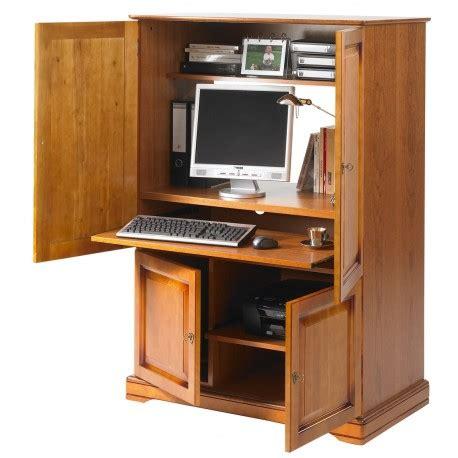 armoire pour ordinateur armoire informatique 4 portes plaqu 233 e merisier beaux