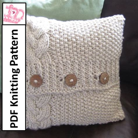 cable cushion cover knitting pattern cable knit pillow cover pattern knit pattern pdf braided