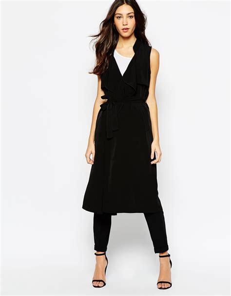 Sleeveless Trench Coat sleeveless trench coat black sleeveless coat vero moda