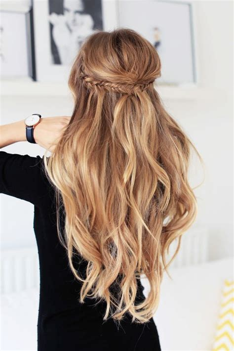 hairstyle ideas and how to do them make two small fishtail braids on each side then put them