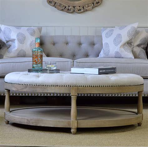 ottoman vs coffee table ottoman coffee table dove grey linen la residence