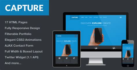 bootstrap themes themeforest capture responsive bootstrap html theme by