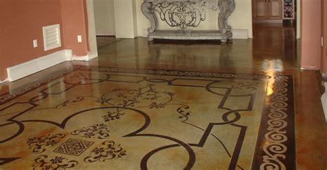Flur Dekorativ Gestalten by Stenciling Concrete Creating Concrete Patterns With