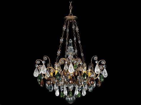 Schonbek Renaissance Rock Crystal Eight Light 26 Wide Wide Chandelier