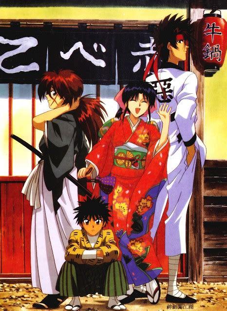 Kaos Samurai X 46 Kaoru Kamiya rurouni kenshin kenshin himura sanosuke sagara yahiko