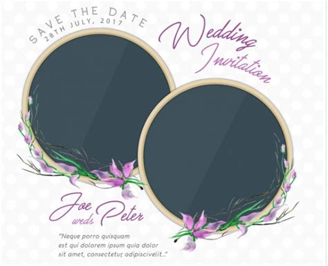 Wedding Quotes Vector by Floral Wedding Invitation With Quote Free Vector Free