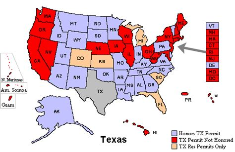 texas concealed handgun reciprocity map i ve got three states to choose between page 2