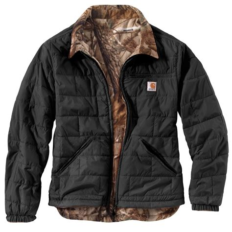 carhartt coat carhartt s woodsville reversible jacket 635643 insulated jackets coats at
