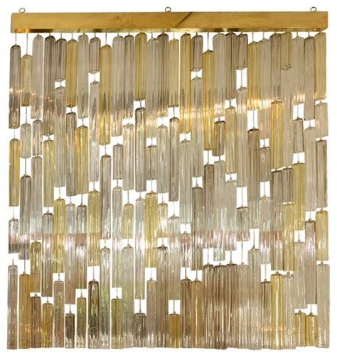 how to use a wall screen divider in the living room venini suspended murano glass elements screen modern