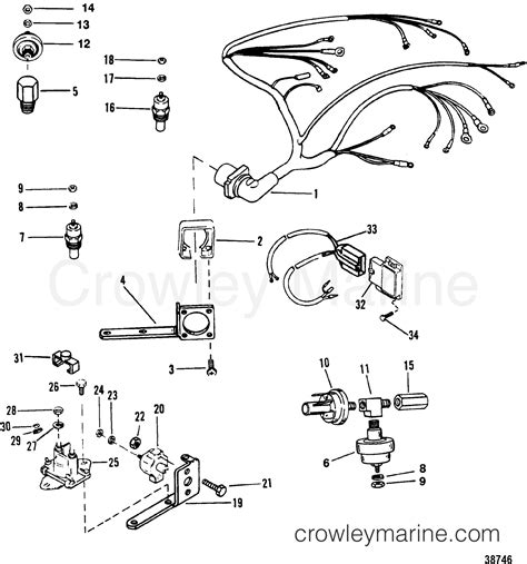 wiring harness and electrical components 1993 mercruiser