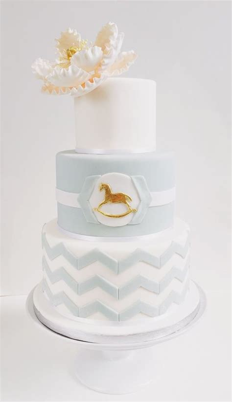 Rocking Baby Shower Cake by 1000 Ideas About Chevron Baby Showers On Baby