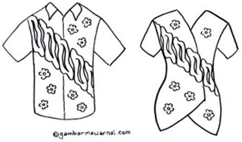 Dress Abjad Hitam gambar mewarnai baju batik gambar mewarnai