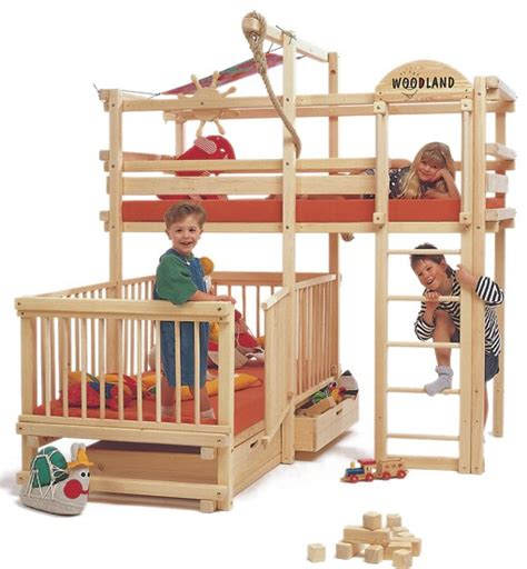 fun bunk beds play bunk beds for large families from woodland kidsomania