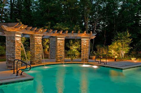 outdoor lighting around pool custom pool lighting outdoor lighting perspectives