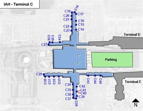 houston texas airport terminal map iah houston intercontinental airport terminal maps