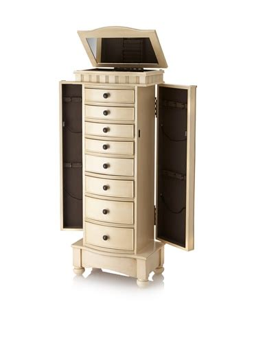 8 drawer jewelry armoire gold colored 8 drawer jewelry armoire with 2 side compartments jewelry hangers zen