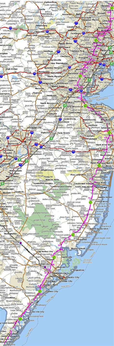 map of new jersey garden state parkway map of the garden state parkway gsp