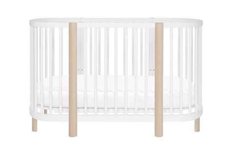 Bassinet To Crib Convertible Hula Oval Convertible Crib With Mini Bassinet Conversion Babyletto