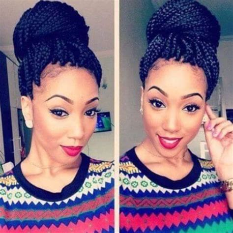 how to put thick braids in a bun 80 great box braids styles for every occasion
