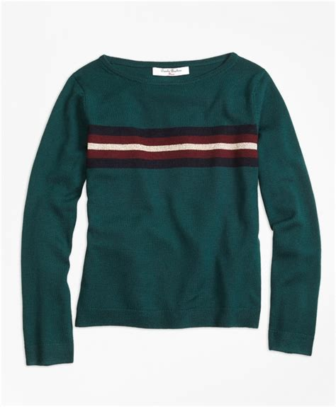 merino wool boatneck sweater cashmere cable crewneck sweater brooks brothers