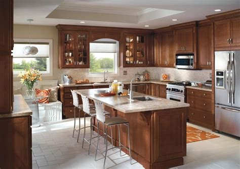 kitchen cabinet design from homecrest cabinetry includes
