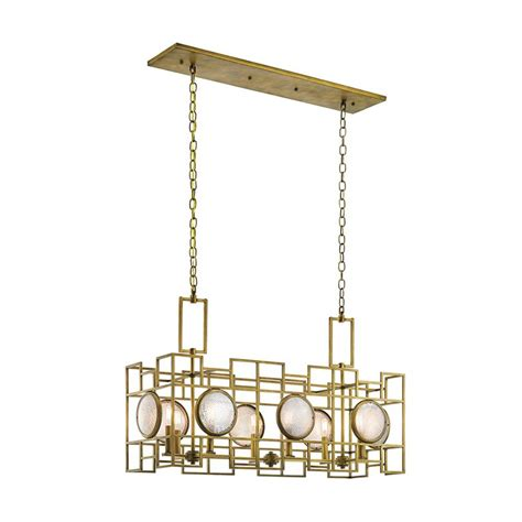 Kichler Island Lighting Shop Kichler Lighting Vance 13 25 In W 8 Light Brass Kitchen Island Light With Textured