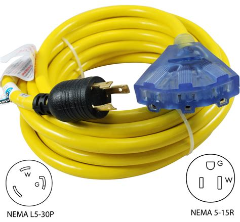 what type of extension can you use for crochet braid conntek 20311 025 30a multi outlet generator distribution cord
