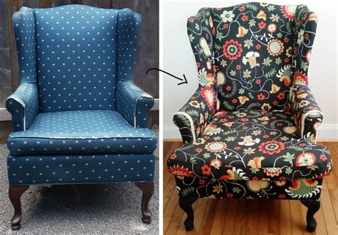 how to reupholster a wing back chair by confessions of a